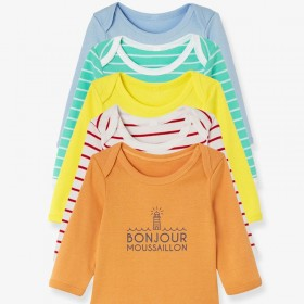 Lot of 5 baby long-sleeved...